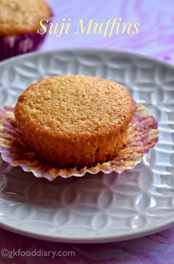 Semolina Cupcakes Recipe for Toddlers and Kids