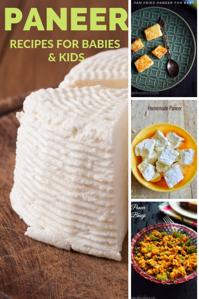 Paneer Recipes for Babies & Kids