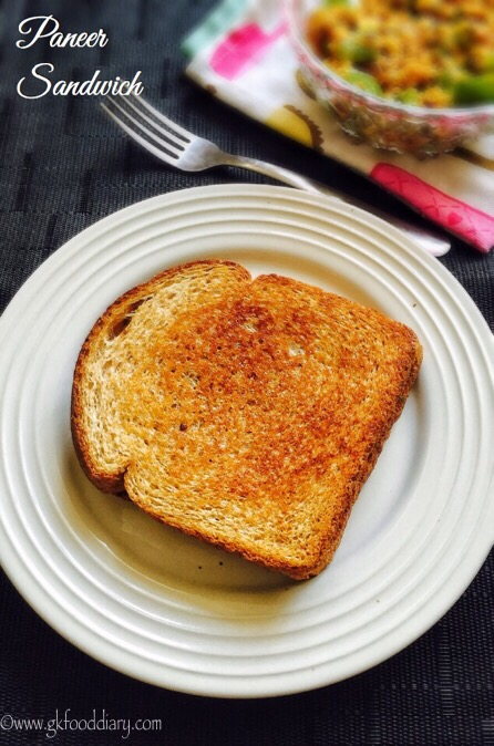 Paneer Sandwich Recipe for Toddlers and Kids