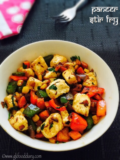 Paneer Stir Fry with vegetables Recipe Toddlers Kids