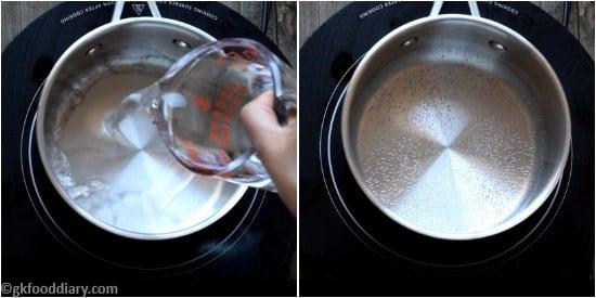 Rice Apple Banana Porridge Step 1