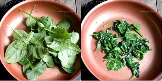 Spinach Paneer Puree Recipe Step 2