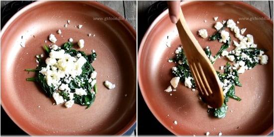 Spinach Paneer Puree Recipe Step 3
