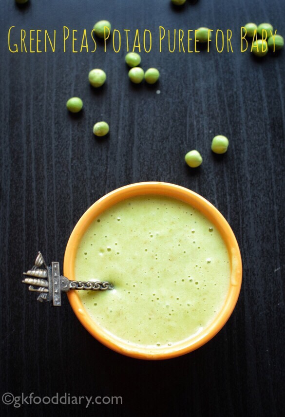 Green Peas Puree for Baby