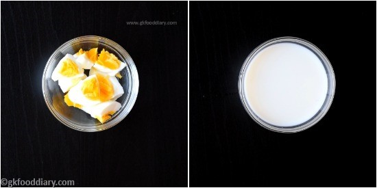 Egg Puree Recipe for Babies Step 1