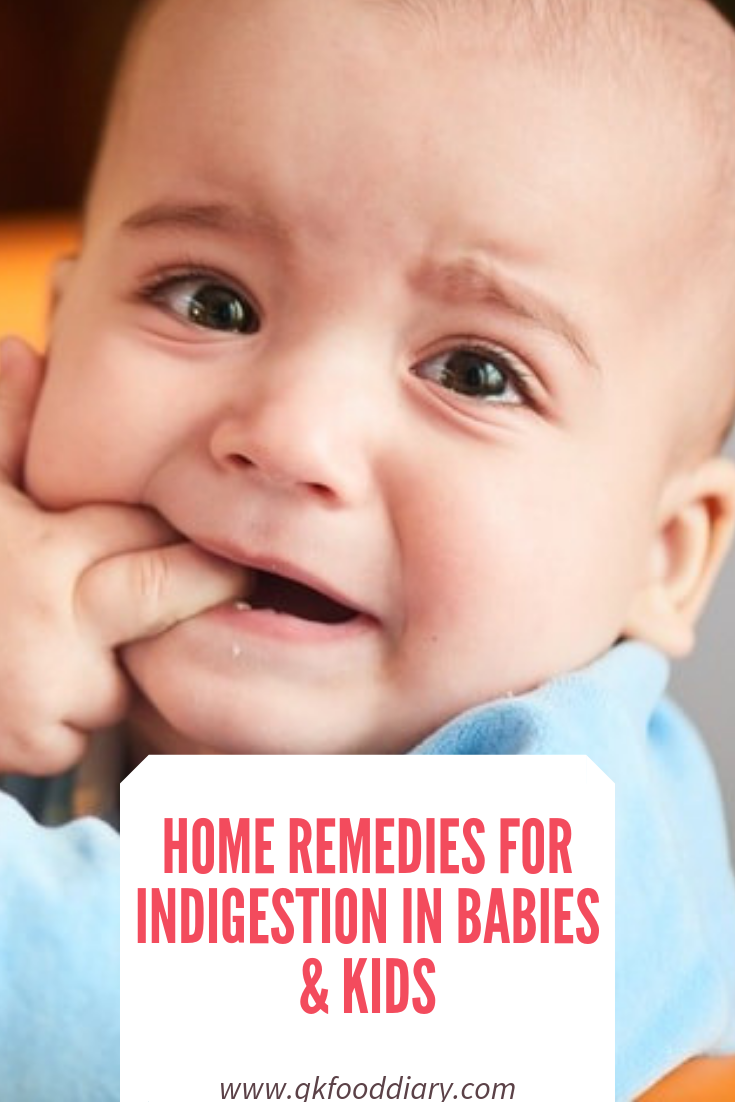 HOME REMEDIES FOR INDIGESTION IN BABIES & KIDS