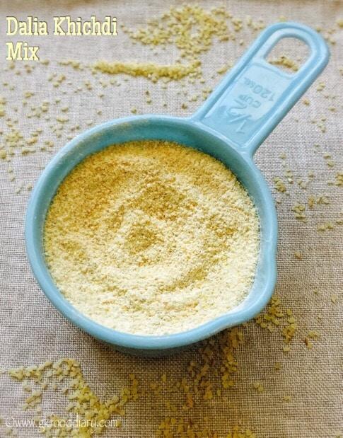 Homemade Dalia Khichdi powder for Baby