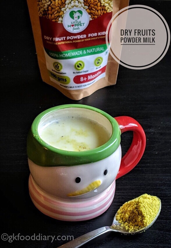 My Little Moppet Foods Review - dry fruit milk powder