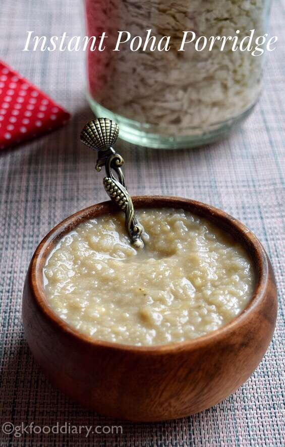 Instant Poha Porridge For Toddlers