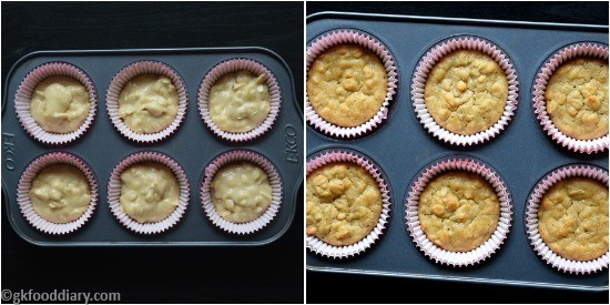 Oats Banana Cupcakes Recipe Step 6