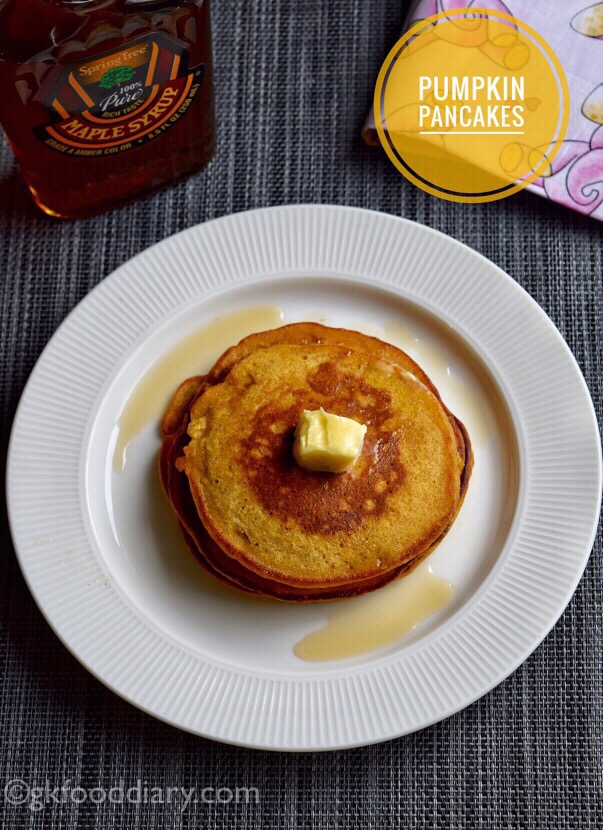 Pumpkin Pancakes Recipe for Toddlers and Kids