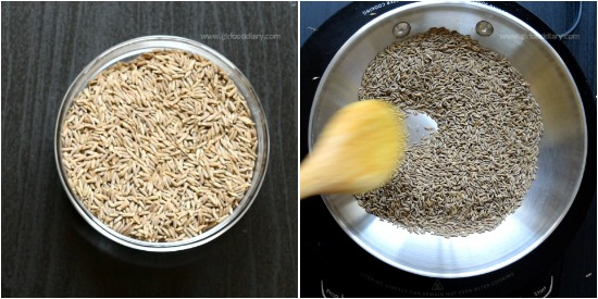 Cumin Powder step 1
