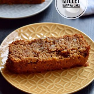 Millet Banana Cake Recipe for Toddlers and Kids