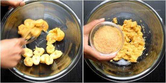 Millet Banana Cake - Step 1