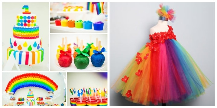 10. Rainbow Birthday Theme