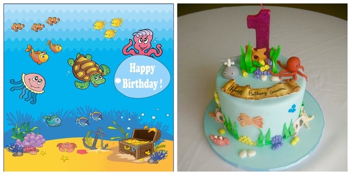 17. Underwater Ocean Birthday Theme