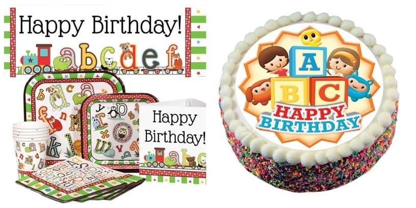 21. ABC Theme Birthday Party