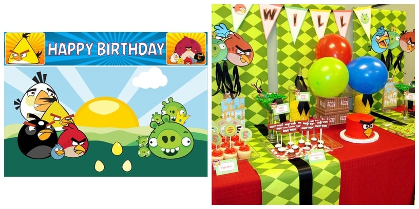 25. Angry Birds Party Theme