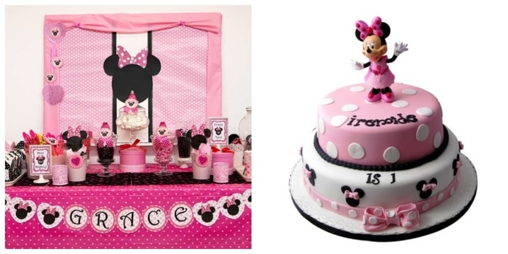 5. Minnie Mouse Birthday Party Theme