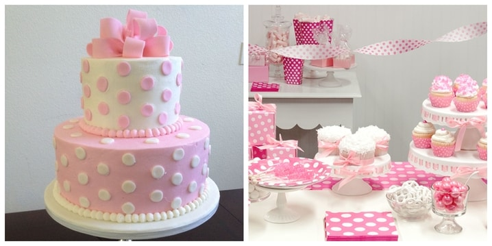 7. Pink Polka Dots Birthday Theme