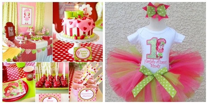 9. Strawberry First Birthday Theme