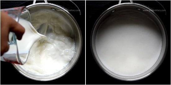 Palm Jaggery milk Recipe step 1