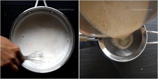 Palm Jaggery milk Recipe step 3