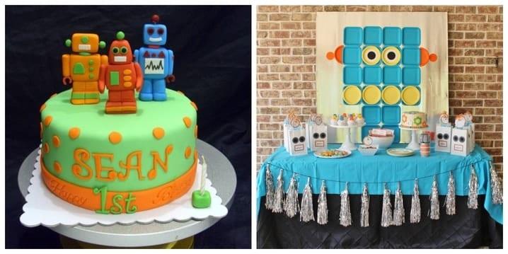 Robot Birthday Theme