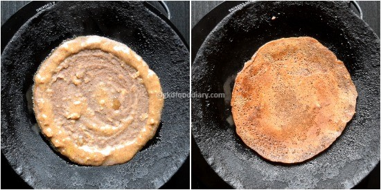 Sweet Ragi Dosa Step 5