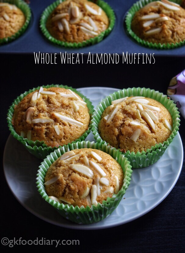 Whole Wheat Almond Muffins Recipe for Toddlers