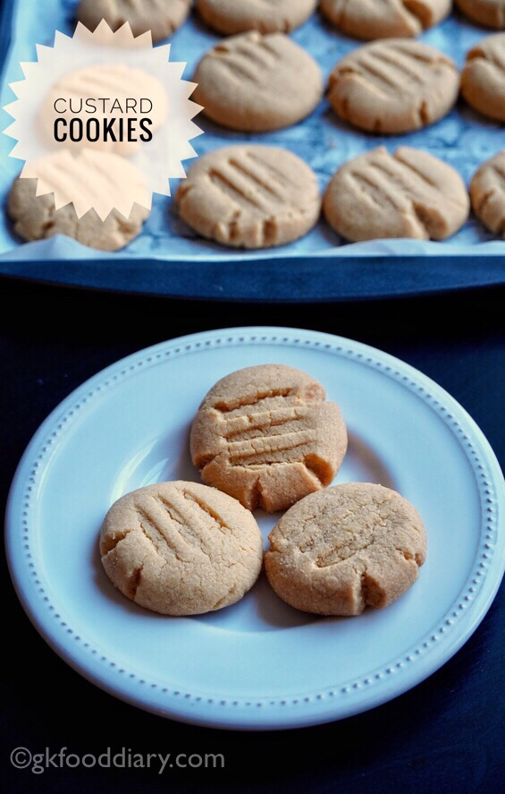 Whole Wheat Custard Cookies Recipe for Toddlers and Kids