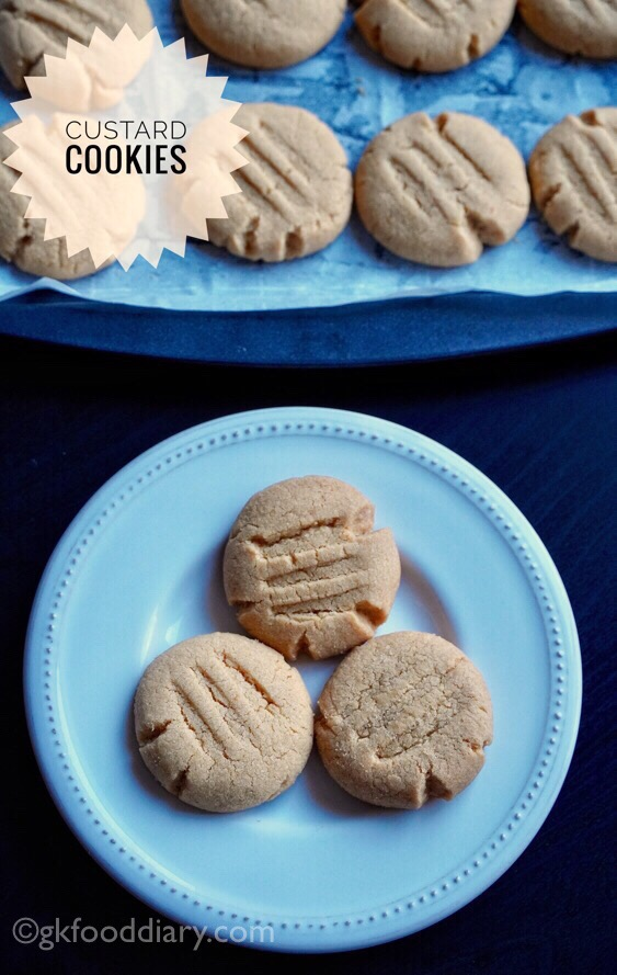 Whole Wheat Custard Cookies Recipe for Toddlers