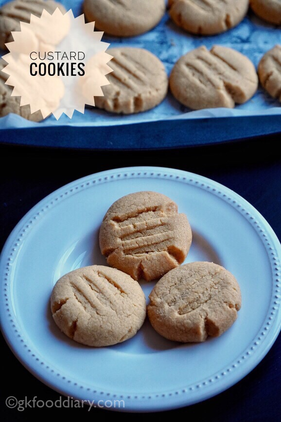 Whole Wheat Custard Cookies Recipe
