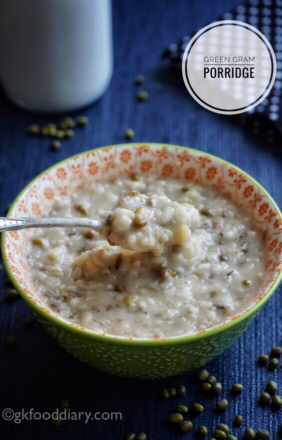 Green Gram Porridge Recipe (with Rice) for Babies, Toddlers and Kids