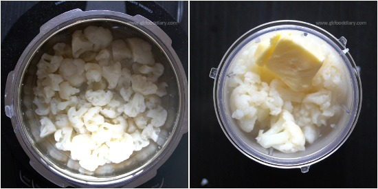 How to make Cauliflower Puree for Babies Step 3
