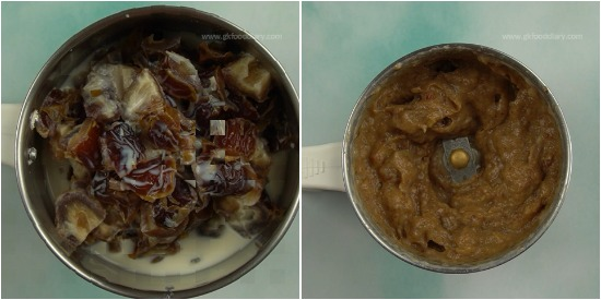 Eggless Dates Oats Cake Step 3