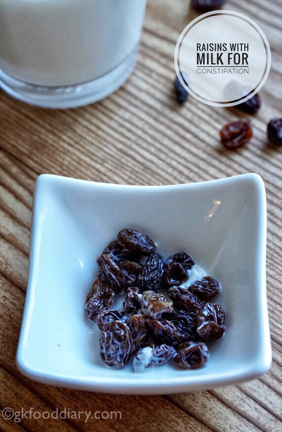 Raisins and Milk for Constipation in Toddlers and Kids