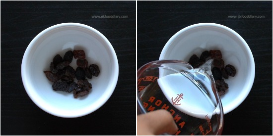 Raisins and Milk for Constipation step 1