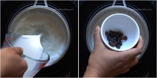 Raisins and Milk for Constipation step 2