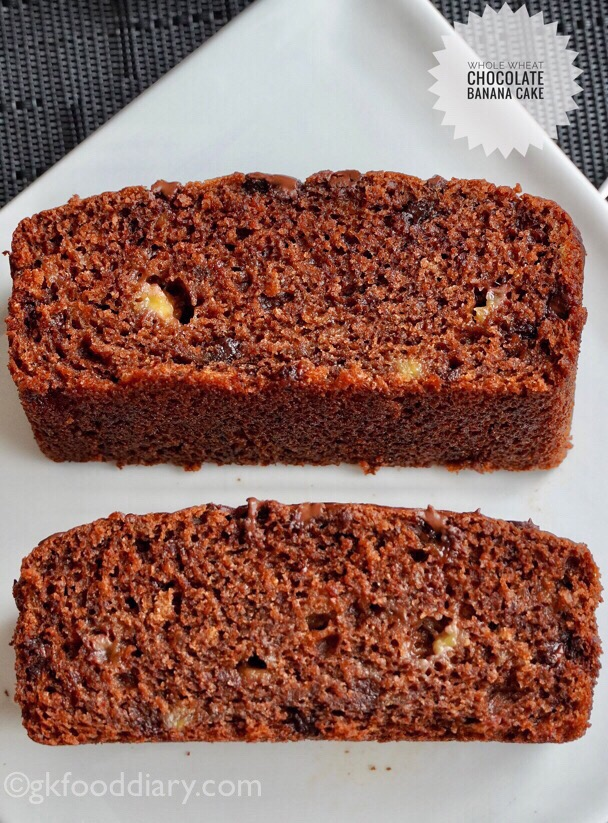 Whole Wheat Chocolate Banana Cake Recipe for childrens