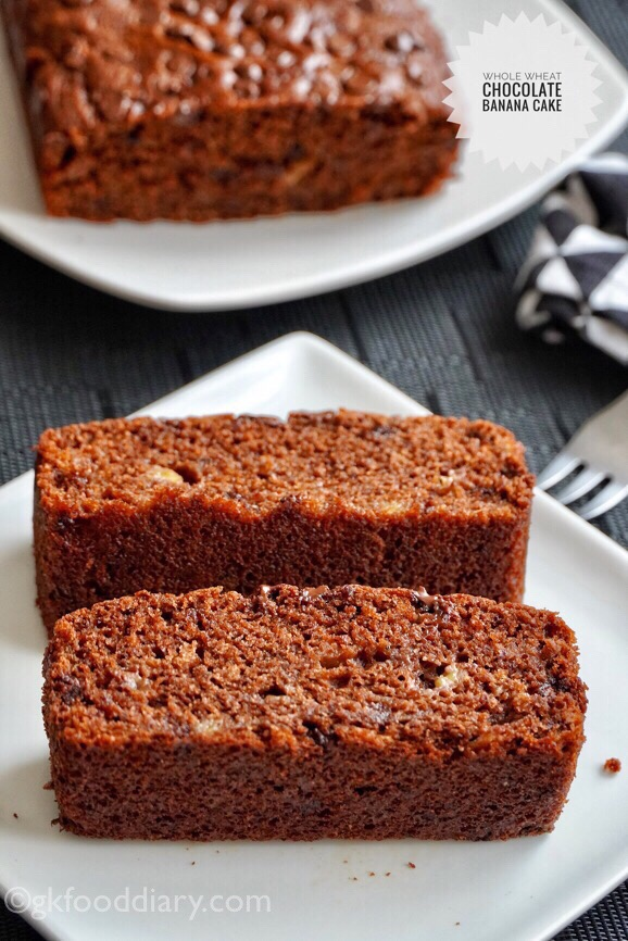 Whole Wheat Chocolate Banana Cake Recipe