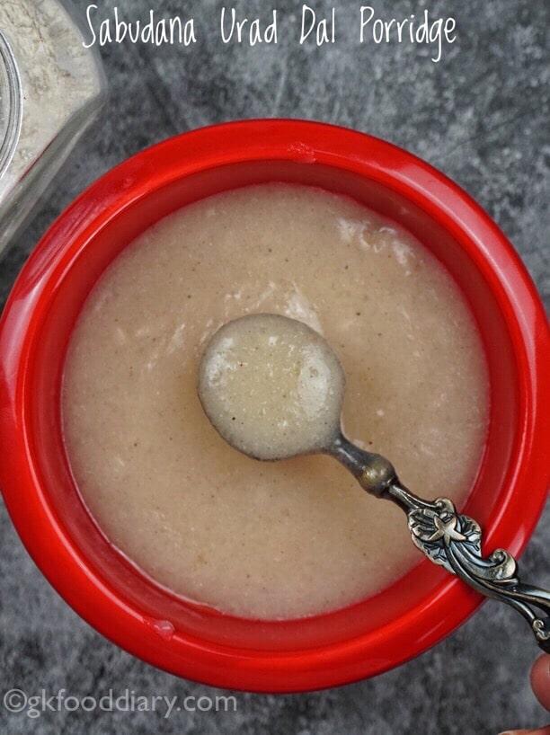 Sago Urad Dal Porridge