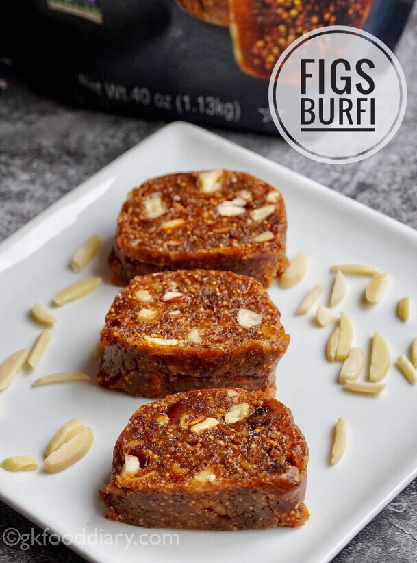 Dry Fruit Barfi for Toddlers and Kids with Figs | Figs Burfi Recipe