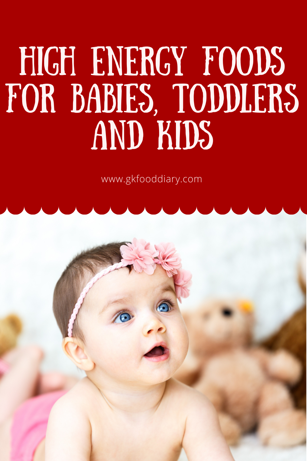 High Energy foods for babies, Toddlers and kids