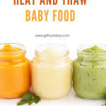 how to freeze and thaw baby food