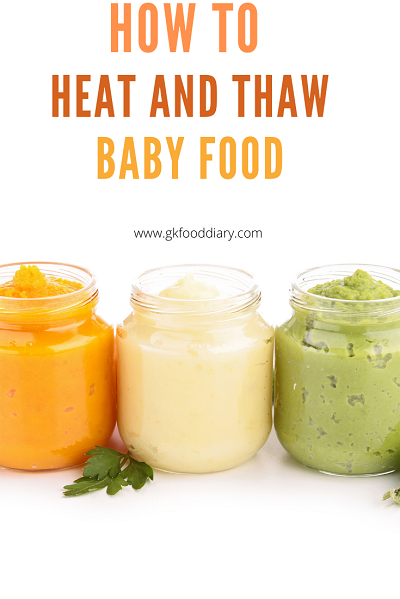 Tips to Heating and Thawing Homemade Baby Food Purees